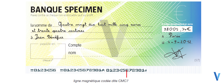 lecture cheque ligne magnetique impression cmc7 i2200 ingenico