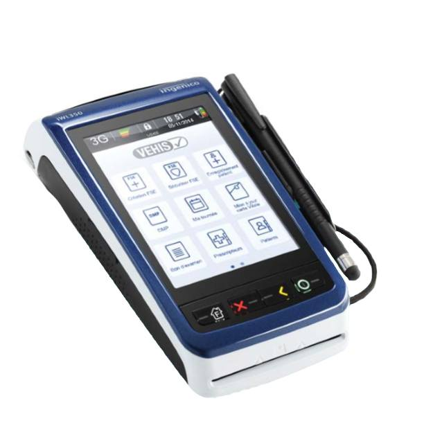 Lecteur de carte vitale portable VEHIS Ingenico   Vtpe dd3e2acbb64