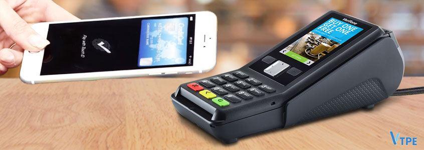 terminal cb verifone v200c & paiement mobile en sans-contact