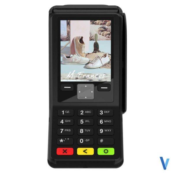 tpe cb fixe verifone v200c 1ls sans-contact avec imprimante