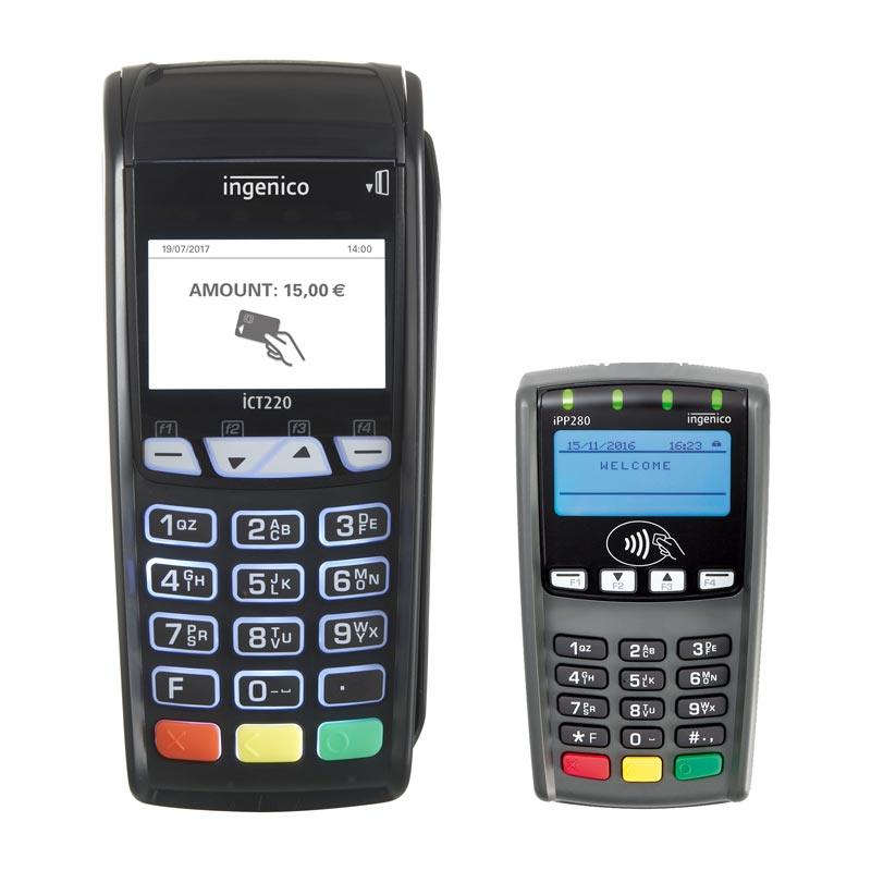 Pack Terminal Bancaire Ict220 Ingenico Pinpad Ipp280 Sans Contact