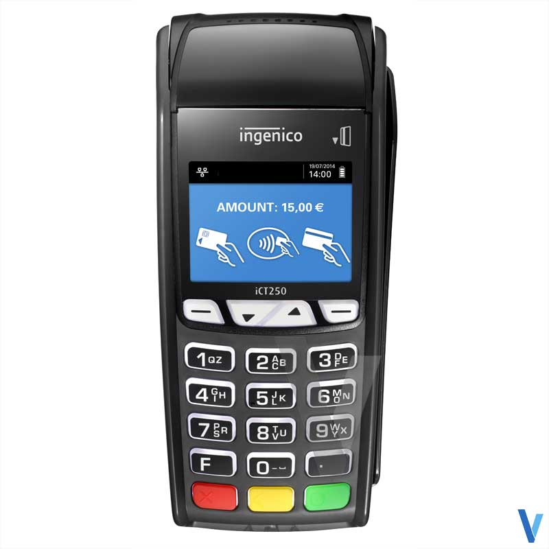 terminal carte bancaire ict 250 ingenico sans-contact 2ls tpe cb
