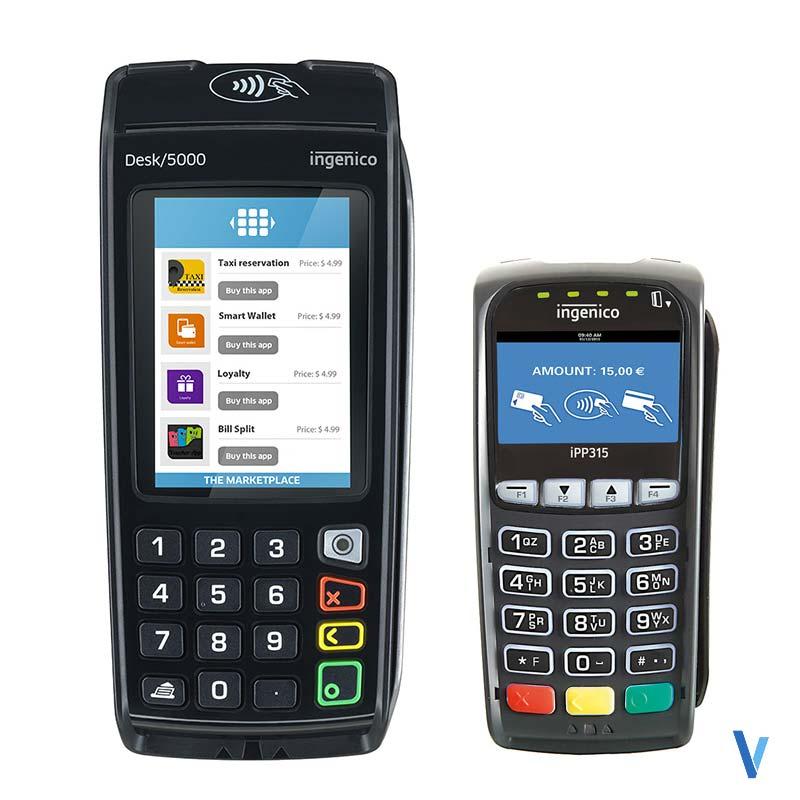 Pack TPE Ingenico DESK 5000 2LS Sans contact + Clavier Pinpad iPP315 Sans contact
