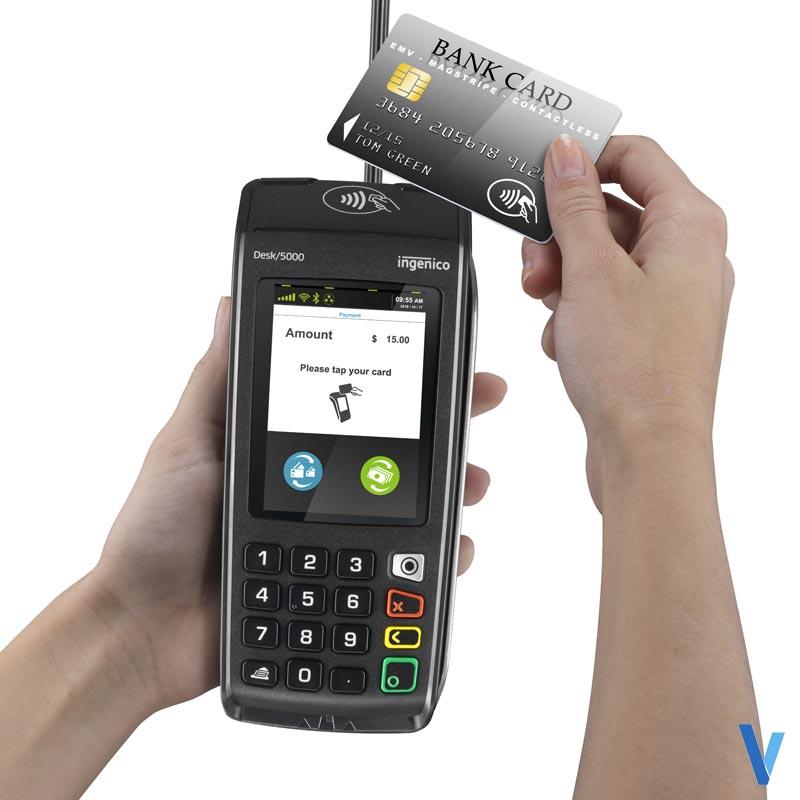 Terminal de paiement Ingenico Desk 5000 Sans contact 1LS Modem RTC +