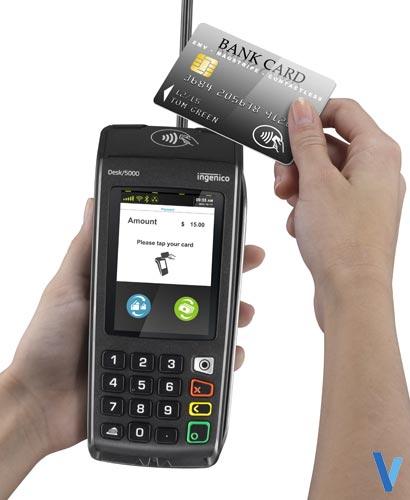 terminal de paiement Desk 5000 ingenico avec paiement sans contact