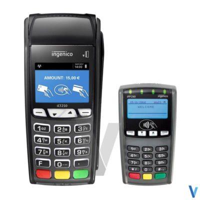 pack lecteur cb ict250 ingenico & pinpad ipp280 sans-contact