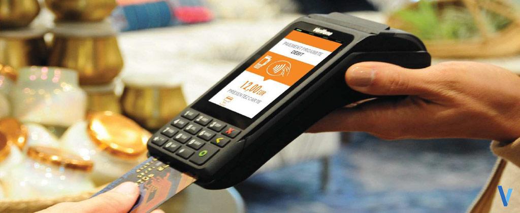 terminalc cb portable sans-fil v240m sans contact
