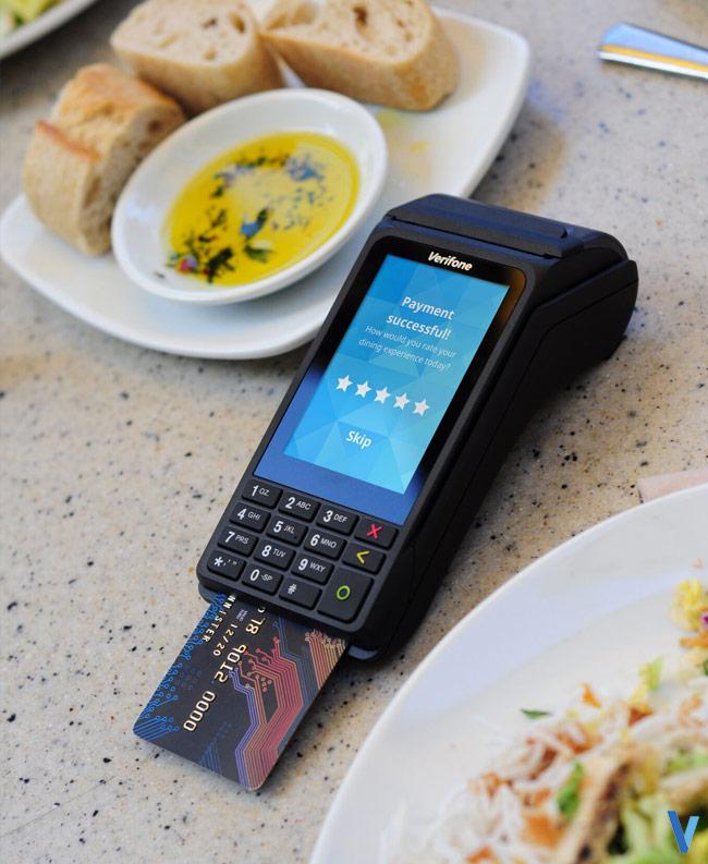 tpe V240 terminal de paiement portable mobile