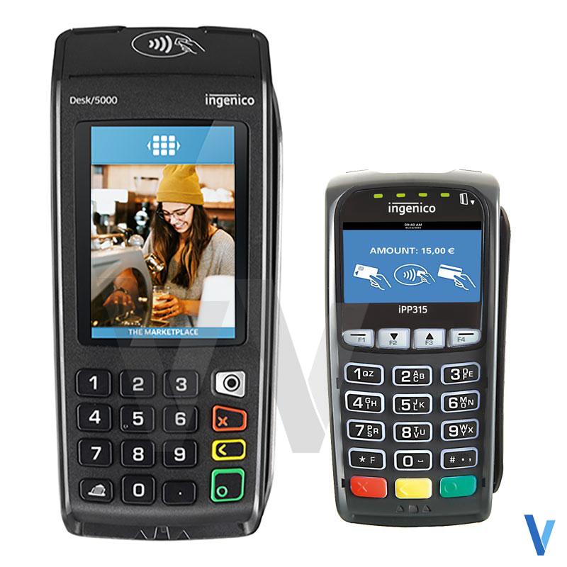 Pack Tpe Ingenico Desk 5000 3g Pinpad Ipp315 Sans Contact