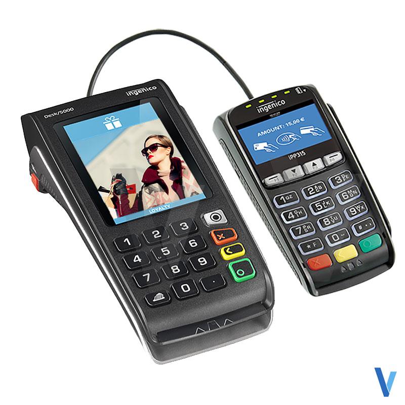 pack tpe desk 5000 3g gprs ingenico et pinpad ipp315